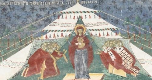 Mânăstirea Sucevița - fragment de frescă